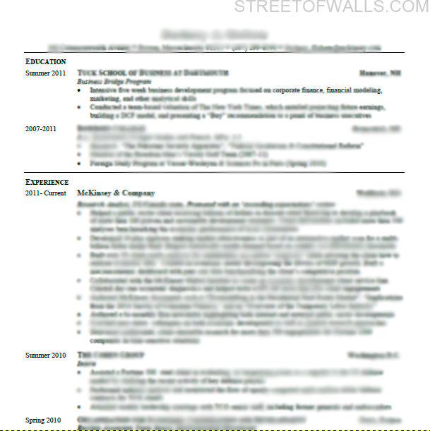Consulting Resume Example 1  Example Of Cv Resume